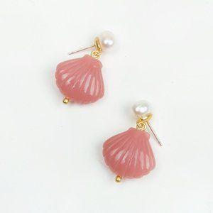 Madewell Pearl and Shell Earrings -  NWOT